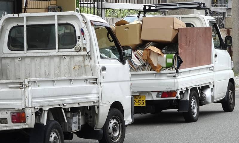 単品回収とトラック積み放題の比較